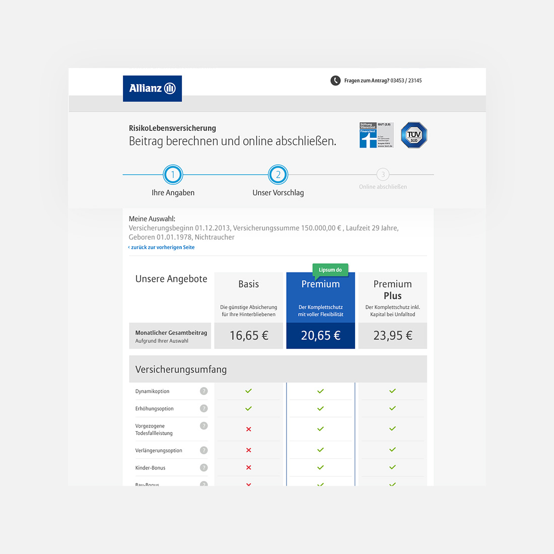 Allianz Risiko Lebensversicherung