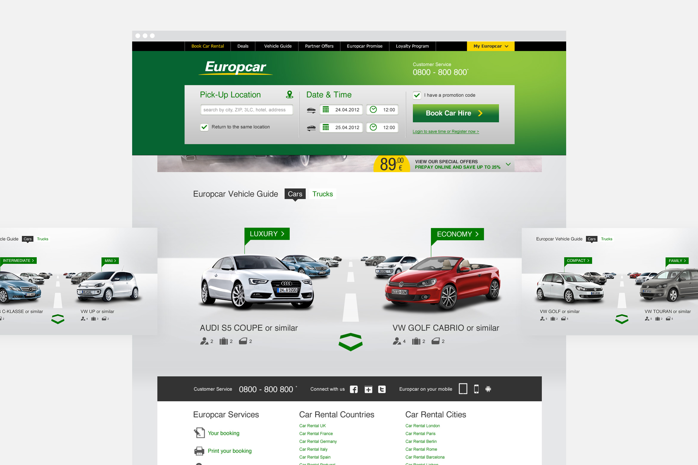 Europcar Website
