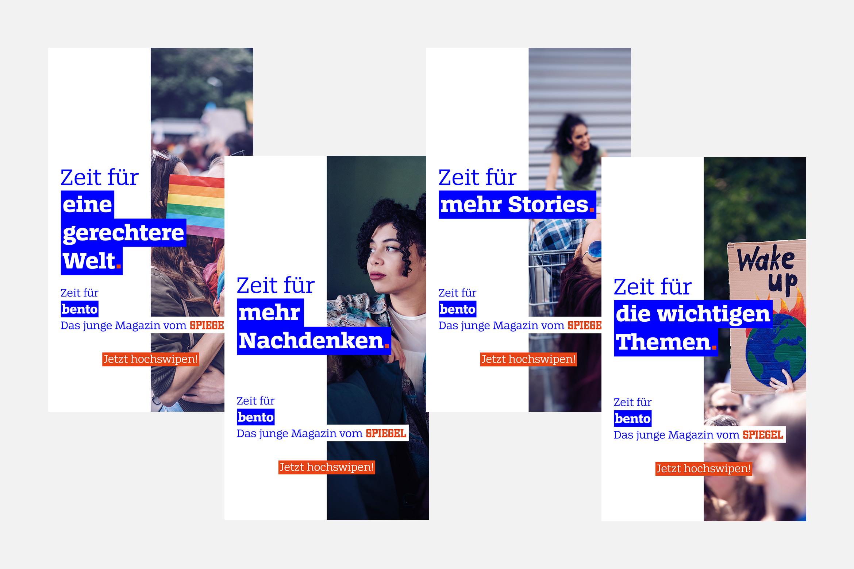 Lea Taaks Art Direction + UI Design – bento Spiegel Online Social Media campaign